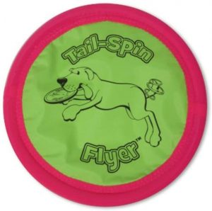 Booda Soft Bite Tail Spin Flyer Flying Disc Dog Toy