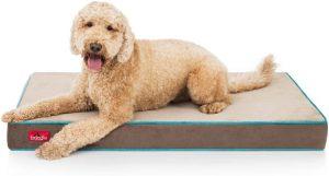 Brindle Waterproof Pillow Dog Bed
