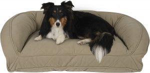 Carolina Pet Quilted Memory Foam Bolster Dog Bed