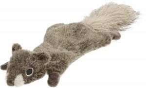 Frisco Fur Really Real Flat Squirrel Dog Toy