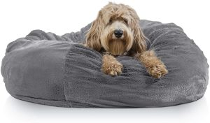 FurHaven Plush Ball Pillow Dog Bed w/Removable Cover