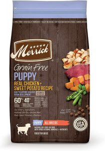 Merrick Grain Free Dry Puppy Food Real Chicken And Sweet Potato Recipe Dry Dog Food