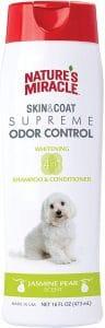Nature's Miracle Supreme Odor Control Natural Whitening Dog Shampoo