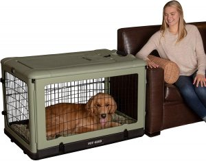 Pet Gear Double Door Collapsible Wire Dog Crate