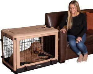 Pet Gear The Other Door Double Door Collapse Wire Dog Crate & Fleece Pad