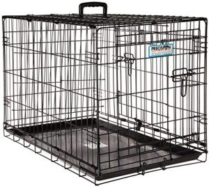 Precision Pet Products Provalu Double Door Collapsible Wire Dog Crate