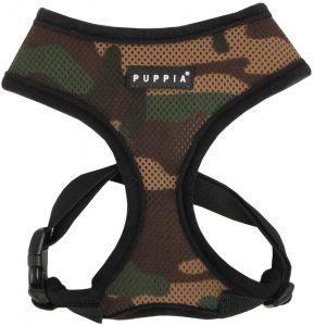 Puppia Black Trim Polyester Back Clip Dog Harness