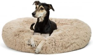 Best Friends By Sheri The Original Calming Shag Vegan Fur Donut Cuddler Dog Bed
