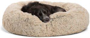 Best Friends By Sheri The Original Calming Shag Vegan Fur Donut Cuddler Dog Bed