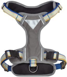 Blueberry Pet 3m Multi Colored Stripe Mesh Reflective Back Clip Dog Harness