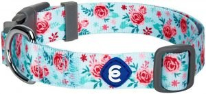 Blueberry Pet Floral Prints Polyester Dog Collar