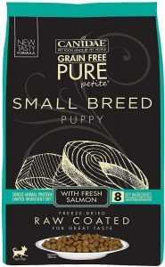 Canidae Grain Free Pure Petite Salmon Formula Small Breed Puppy Limited Ingredient Diet Freeze Dried Raw Coated Dry Dog Food