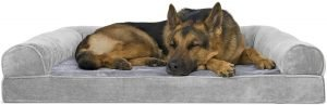 Furhaven Comfy Couch Orthopedic Bolster Dog Bed