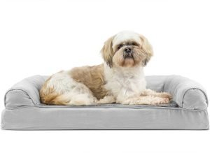 Furhaven Plush & Suede Orthopedic Sofa Dog Bed