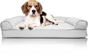 Furhaven Quilted Orthopedic Bolster Cat & Dog Bed