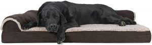 Furhaven Two Tone Deluxe Chaise Orthopedic Dog Bed