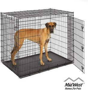 Midwest Solutions Series Xx Large Heavy Duty Double Door Collapsible Wire Dog Crate