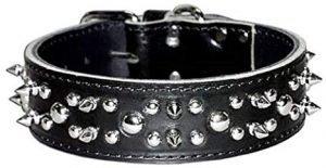 Omnipet Spiked And Studded Latigo Dog Collar