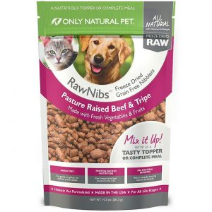 Only Natural Pet Rawnibs Beef & Tripe Grain Free Freeze Dried Dog & Cat Food