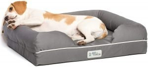 Petfusion Ultimate Lounge Memory Foam Bolster Cat & Dog Bed