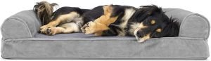 Furhaven Plush & Suede Orthopedic Sofa Cat & Dog Bed