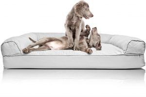 Furhaven Quilted Orthopaedic Bolster Dog Bed