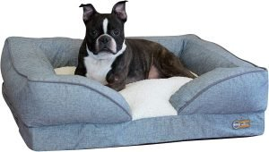 K&h Pet Products Pillow Top Orthopedic Bolster Cat & Dog Bed