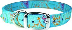 Omnipet Paisley Leather Dog Collar