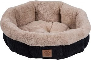 Precision Pet Products Snoozzy Round Shearling Bolster Dog Bed