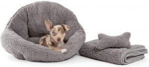 Best Friends By Sheri Orthocomfort Sherpa Bolster Cat & Dog Bed