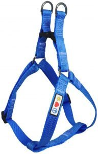 Pawtitas Nylon Reflective Step In Back Clip Dog Harness
