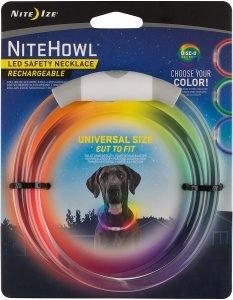 Nite Ize Nitehowl Led Rechargeable Safety Necklace Dog Collar