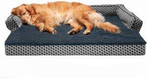 Furhaven Comfy Couch Cooling Gel Cat & Dog Bed