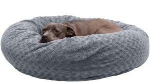 Furhaven Curly Fur Bolster Dog Bed