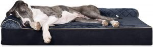 Furhaven Quilted Goliath Chaise Bolster Dog Bed