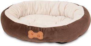 Aspen Pet Oval Bone Applique Bolster Dog Bed