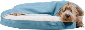 Furhaven Faux Sheepskin Snuggery Orthopedic Cat & Dog Bed