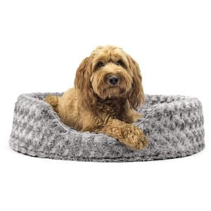 Furhaven Ultra Plush Oval Bolster Cat & Dog Bed
