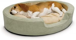 K&h Pet Products Thermo Pet Cuddle Cushion Bolster Cat & Dog Bed