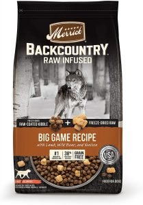 Merrick Backcountry Freeze Dried Raw Grain Free Big Game Recipe With Lamb Dry Dog Food