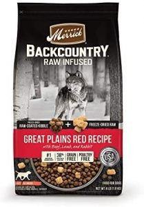 Merrick Backcountry Freeze Dried Raw Grain Free Great Plains Red Recipe