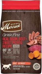 Merrick Grain Free Real Bison, Beef + Sweet Potato Recipe Dry Dog Food
