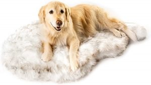 Pawbrands Puprug Faux Fur Curve Orthopedic Pillow Dog Bed
