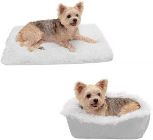 Furhaven Self Warming Convertible Cuddle Mat Bolster Cat & Dog Bed