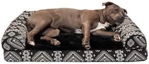 Furhaven Southwest Kilim Orthopedic Deluxe Chaise Dog & Cat Bed