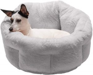 Furhaven Terry Self Warming Hi Lo Donut Cat & Dog Bed