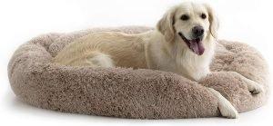 Brindle Donut Cuddler Dog & Cat Bed